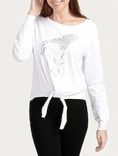 white cotton casual top -  online shopping for Tops