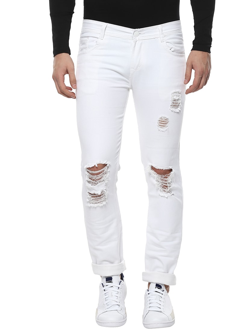 d230d6aea06 White Cotton Ripped Jeans