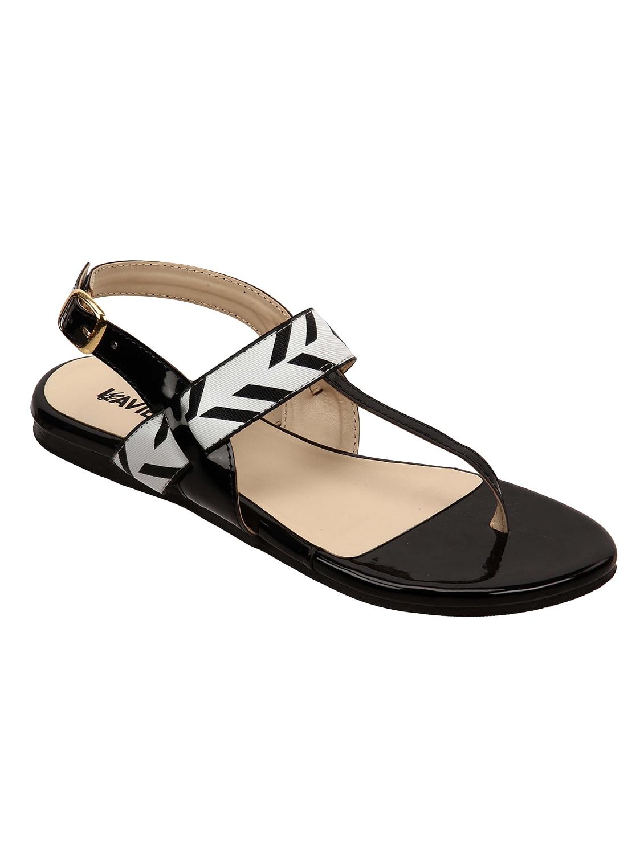 d83dd84df6df Buy Black Back Strap Sandal by Lavie - Online shopping for Sandals ...