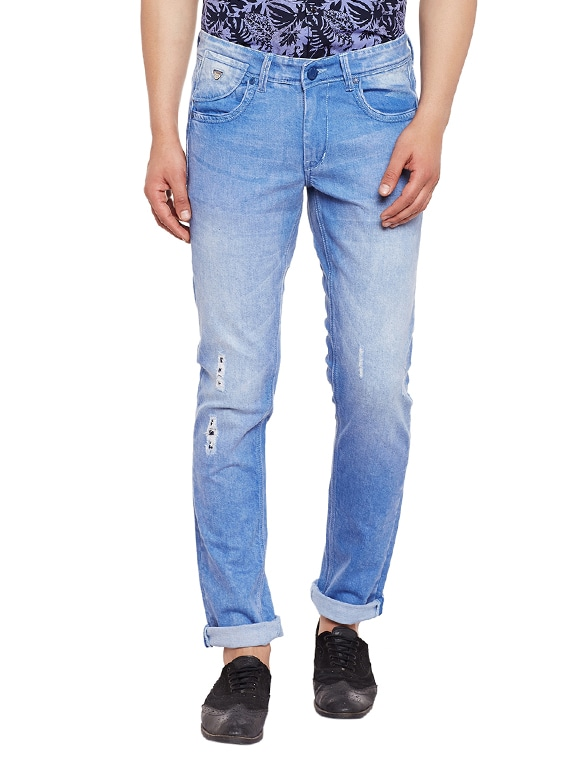 df9ca4c7 Buy Blue Denim Ripped Jeans for Men from Canary London for ₹600 at 73% off  | 2019 Limeroad.com