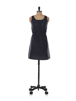 Black Dotted Dress - Aamod