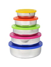 Airtight Stainless Steel Bowl Set (Multicolored, Pack of 5) -  online shopping for Containers