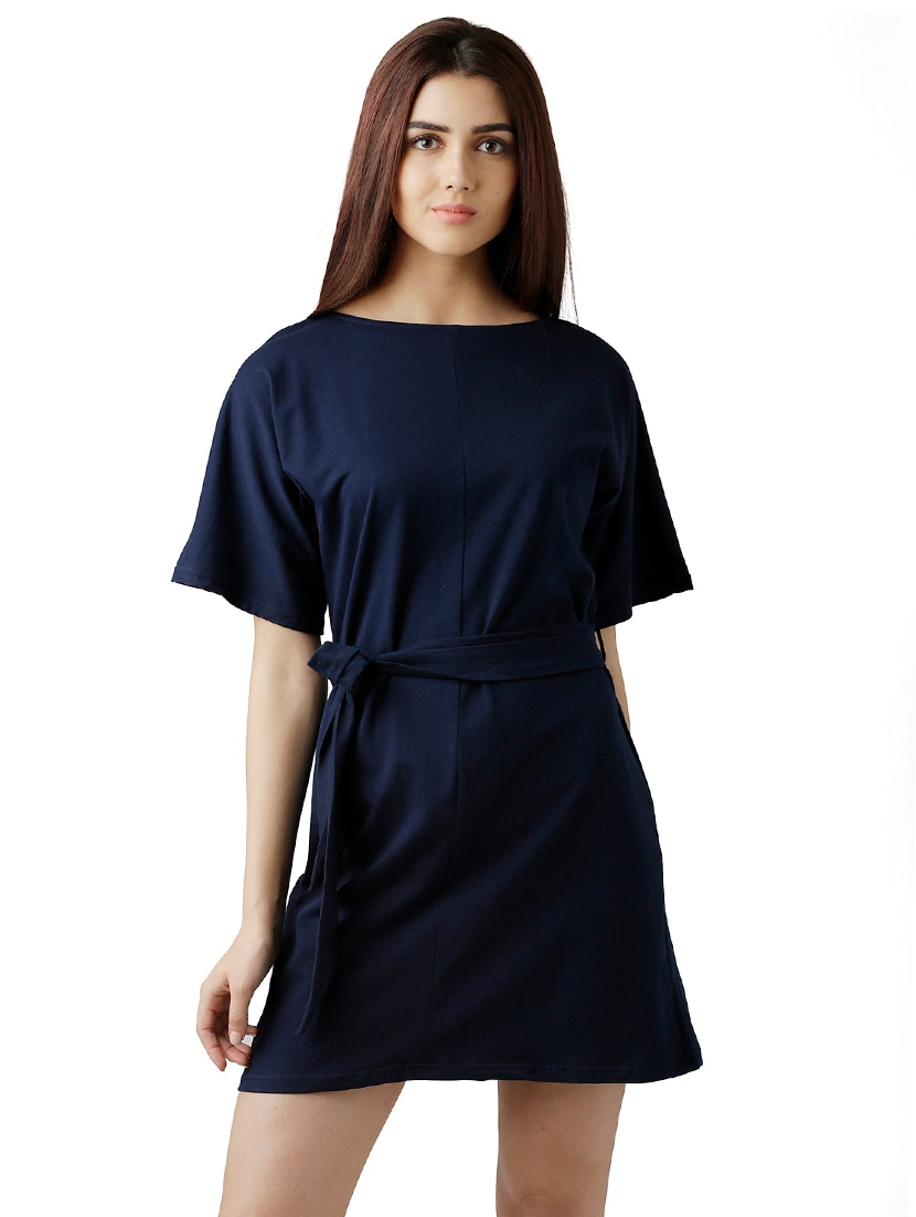 f1a536c8717 Buy Self-tie Belted Shift Dress for Women from Miss Chase for ₹609 at 55%  off