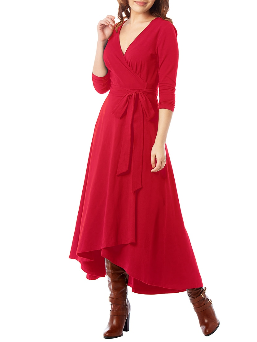 b89eafcb28b Buy Red Solid Wrap Dress for Women from I Wear My Style for ₹2534 at 35%  off
