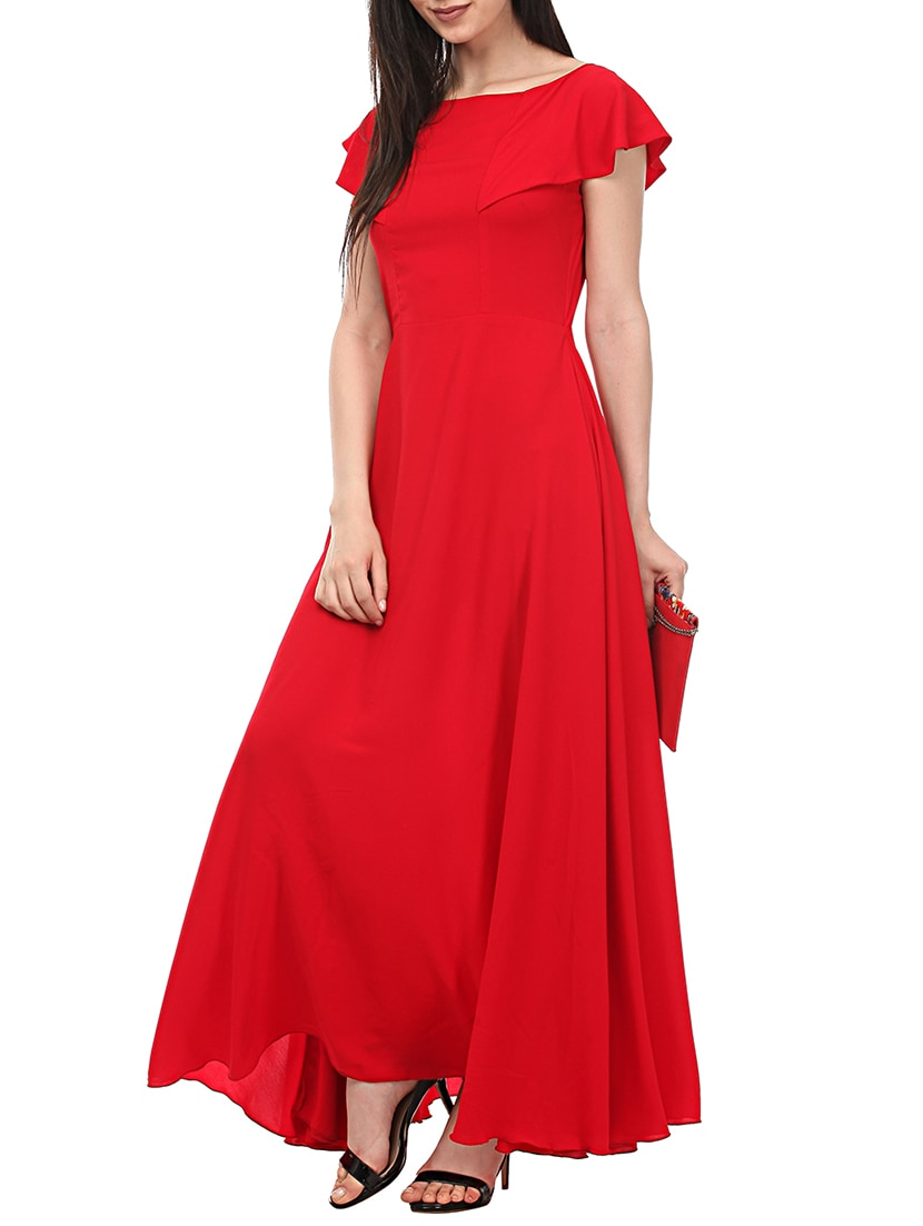 Buy Red Solid Gown Dress by Lady Stark - Online shopping for Dresses ...