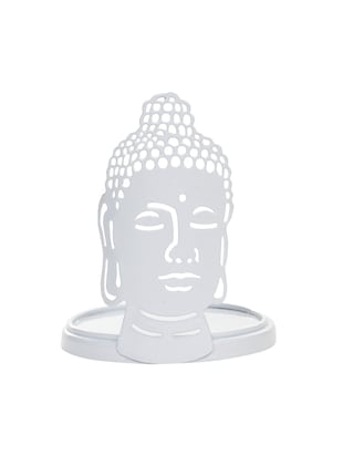 Buddha T- Light Candle Holder White - 14656150 - Standard Image - 4