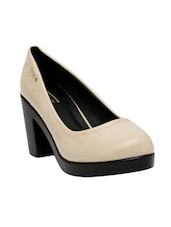 beige patent slip on pumps -  online shopping for pumps