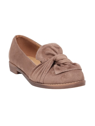 beige suede slip on loafers - online shopping for Loafers
