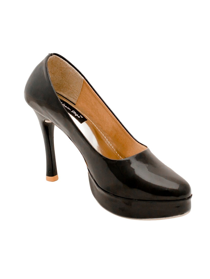 a8185809b12 Buy Black Patent Leather Platforms Pumps for Women from Adjoin Steps for  ₹628 at 37% off