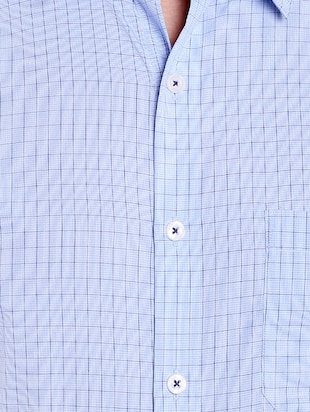 blue cotton formal shirt - 14666389 - Standard Image - 4