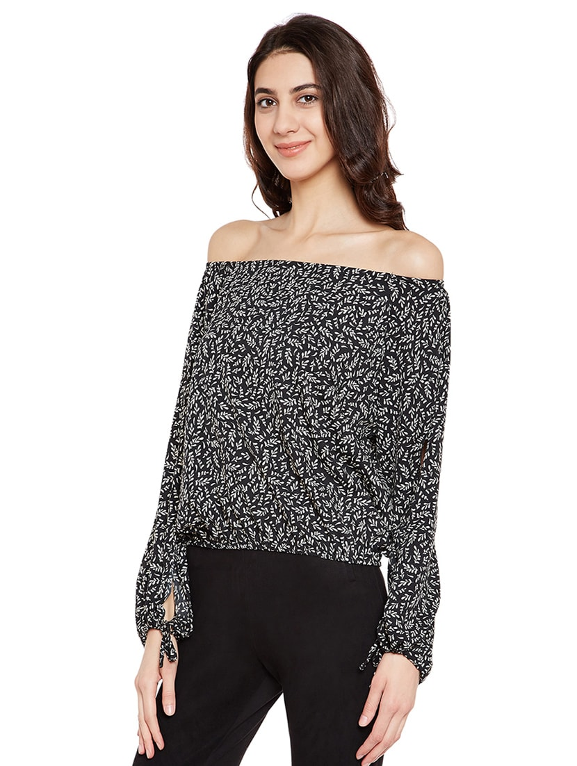 1156be07545a7d Buy Black Off Shoulder Top by Primo Knot - Online shopping for Tops in  India