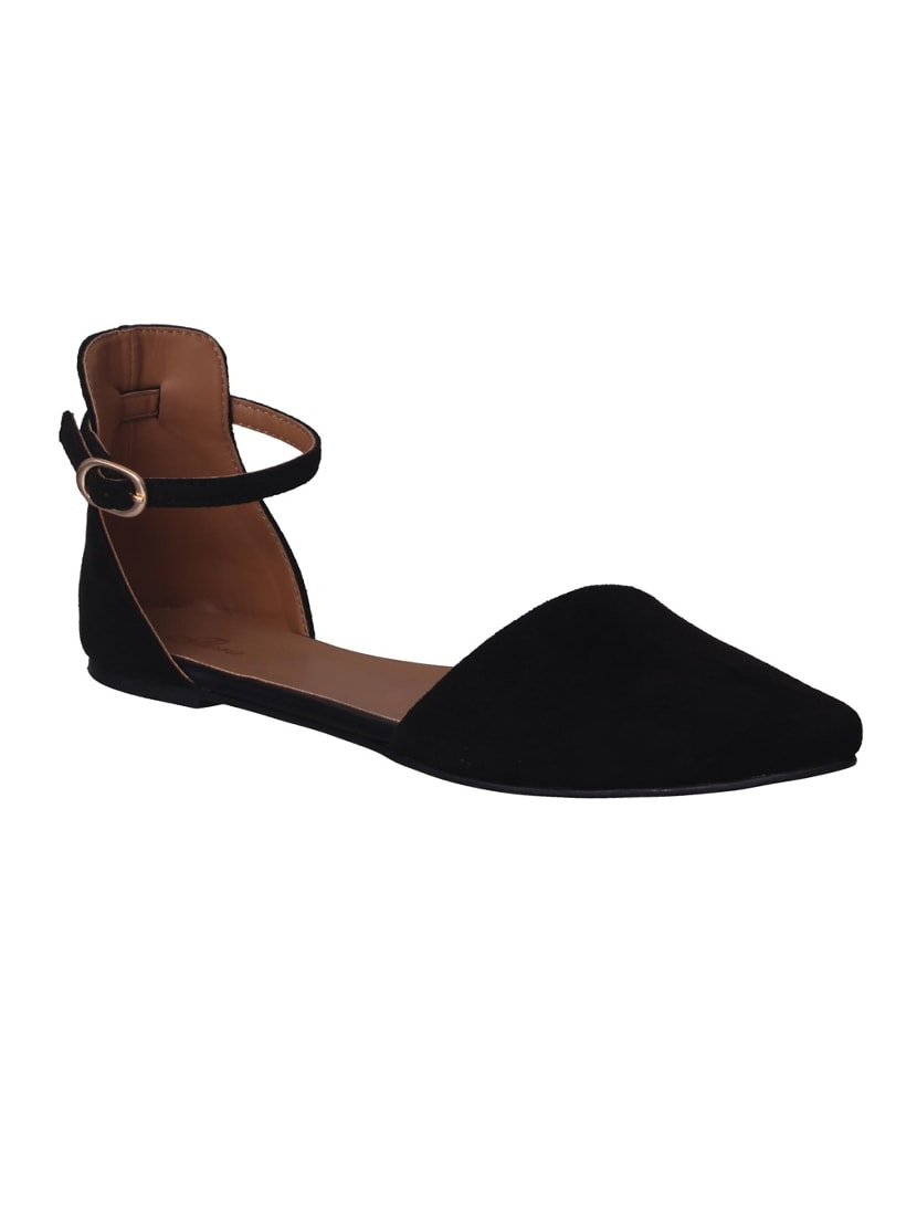 683050eb966 Buy Black Suede Ankle Strap Sandals for Women from Flora for ₹1019 at 40%  off