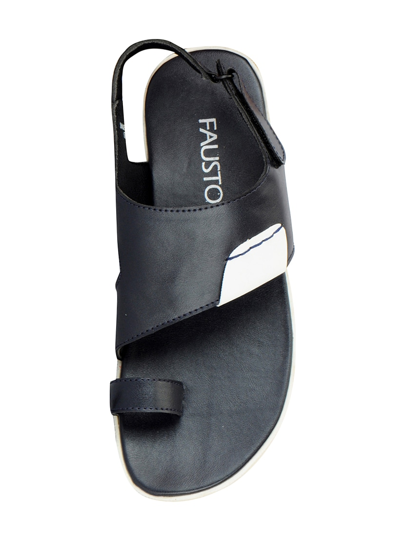 520c54bcef2 Buy Blue Leatherette Back Strap Sandals by Fausto - Online shopping ...