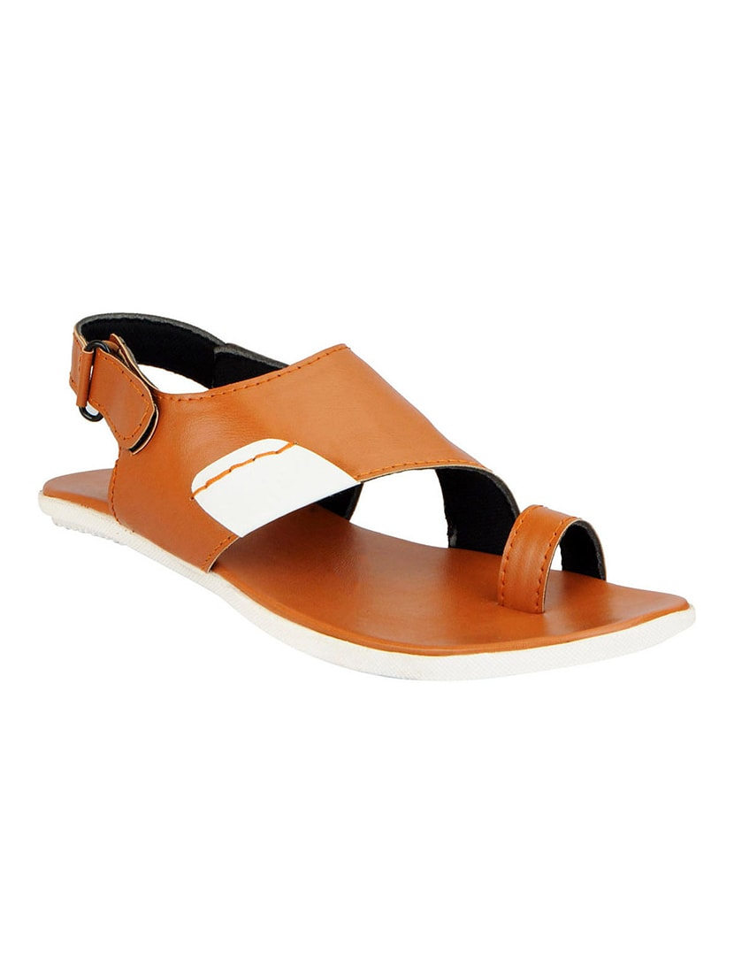 511d877b579 Buy Tan Leatherette Back Strap Sandals by Fausto - Online shopping for  Sandals in India