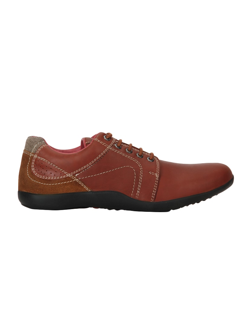 Red Chief Brown Leather Lace Up Shoes