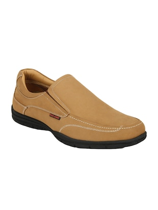 brown Leather formal slip on -  online shopping for Slip Ons