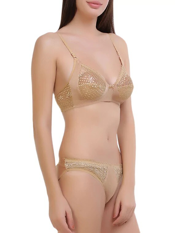 e43589241e Buy Gold Nylon Bras And Panty Set by Royal Fit - Online shopping for Bras  And Panty Set in India