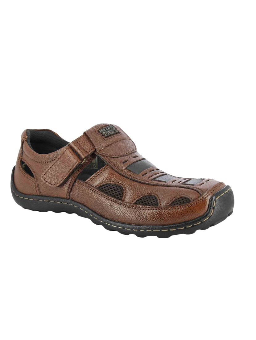 5f889e63203e3 Buy Brown Leather Slip On Sandal for Men from Alberto Torresi for ₹1279 at  53% off