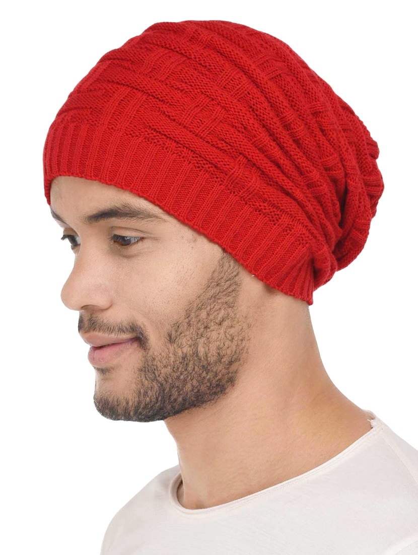 Buy Red Wool Beanies Cap by Vr Designers - Online shopping for Caps And Hats  in India  5631179ac25
