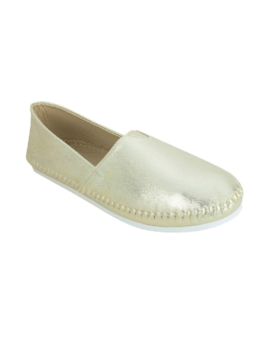 gold leather espadrilles casual shoes - 14714835 - Standard Image - 1