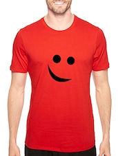 red cotton chest print tshirt -  online shopping for T-Shirts