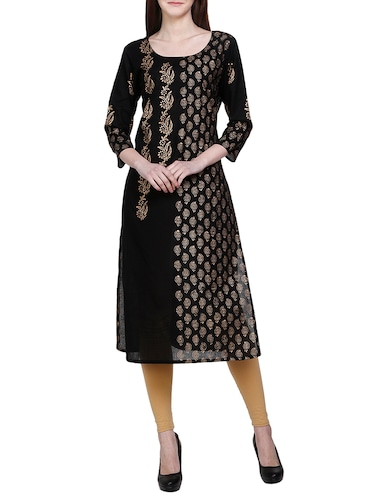 819bd9bd252 Black Kurta for Women Online