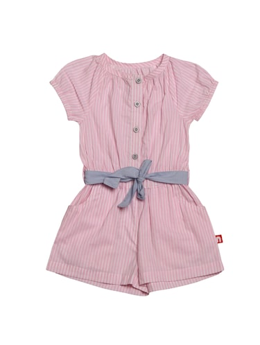 pink cotton playsuit - 14720743 - Standard Image - 1