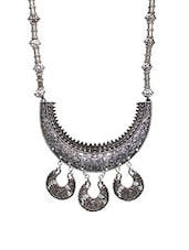 Multi Metal Tribal Necklace - By