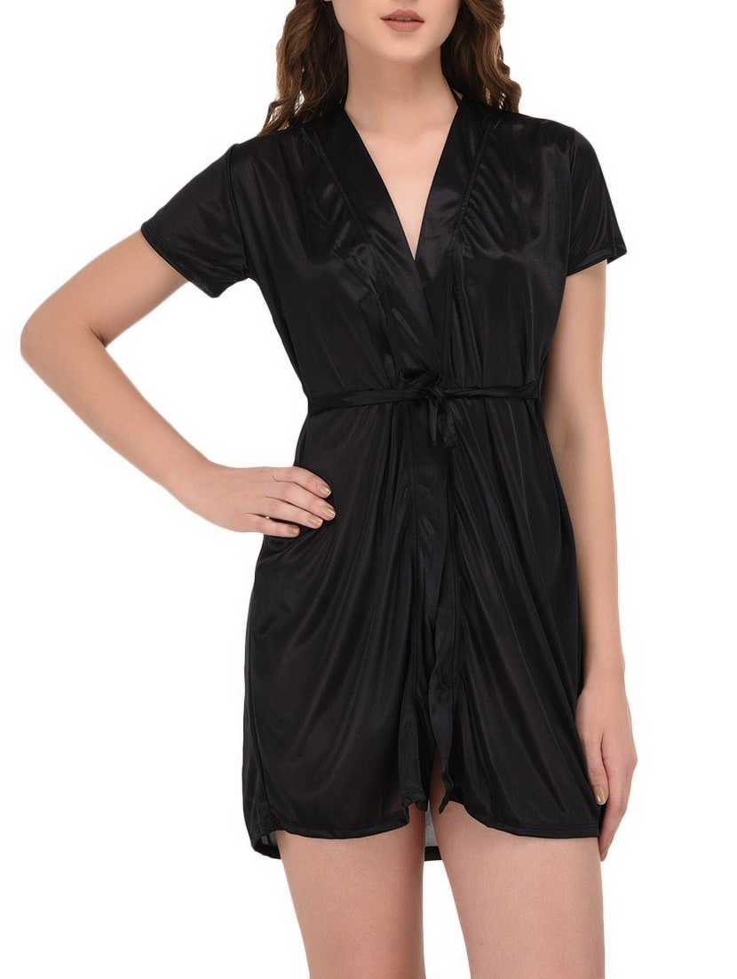 Buy Black Satin Nightwear Set by You Forever - Online shopping for Nightwear  Sets in India  7d83be039