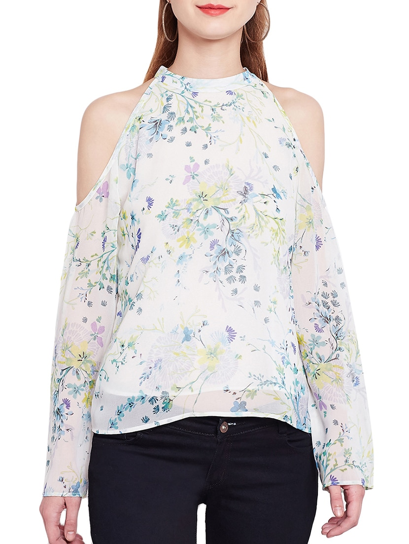 8a68837c4835be Buy Tie Up Back Cold Shoulder Top by Rare - Online shopping for Tops in  India