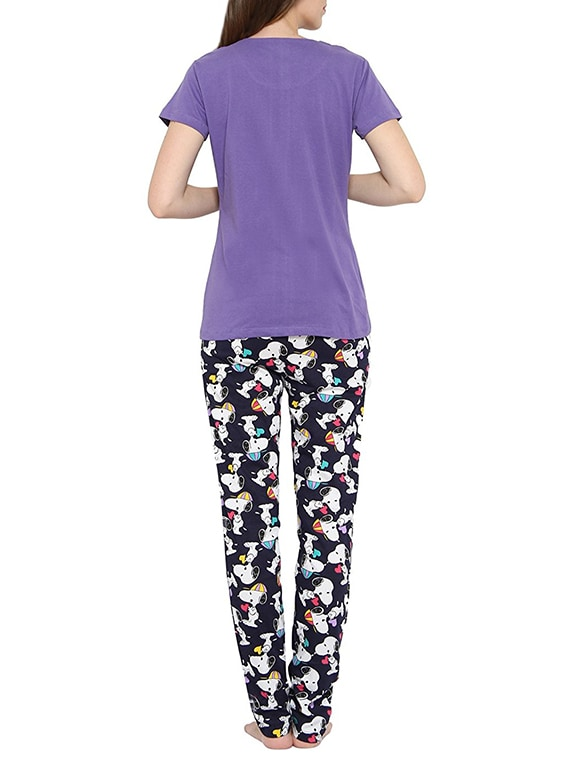 07e0174efc53 Buy Purple Printed Pajama Set by Valentine - Online shopping for Nightwear  Sets in India