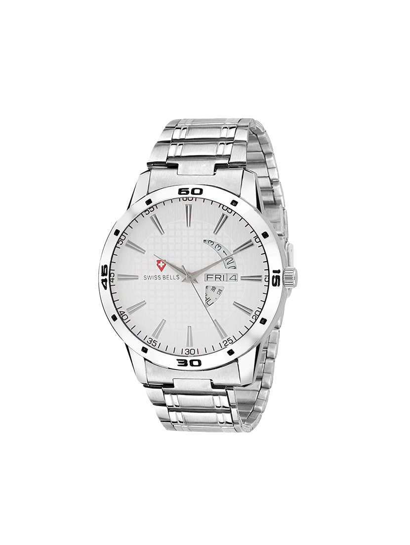 b56e414d49da ... Dial Silver Steel Chain Day and Date Multifunction Chronograph Wrist  Watch for. Explore this look Hover over image to zoom