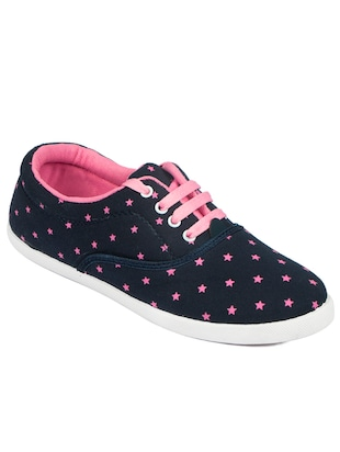 navy canvas laceup casual shoes -  online shopping for Casual Shoes