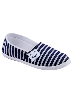 navy canvas slip on casual shoes - 14746709 - Standard Image - 1