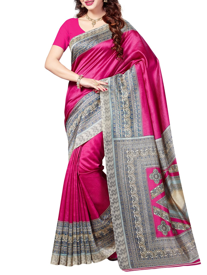 d96c5da8c Buy Pink Art Silk Bhagalpuri Saree With Blouse for Women from Ishin for  ₹473 at 74% off