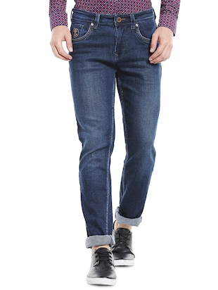 blue denim washed jeans - 14764683 - Standard Image - 1