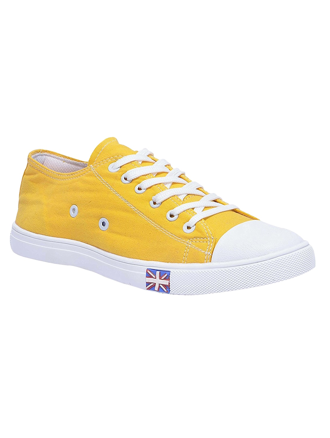 Yellow Canvas Lace Up Sneaker