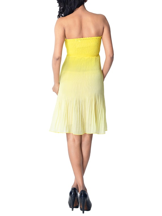 f4bb08eb4b Buy Yellow Chiffon Tube Dress for Women from Trendy Divva for ₹569 at 62%  off