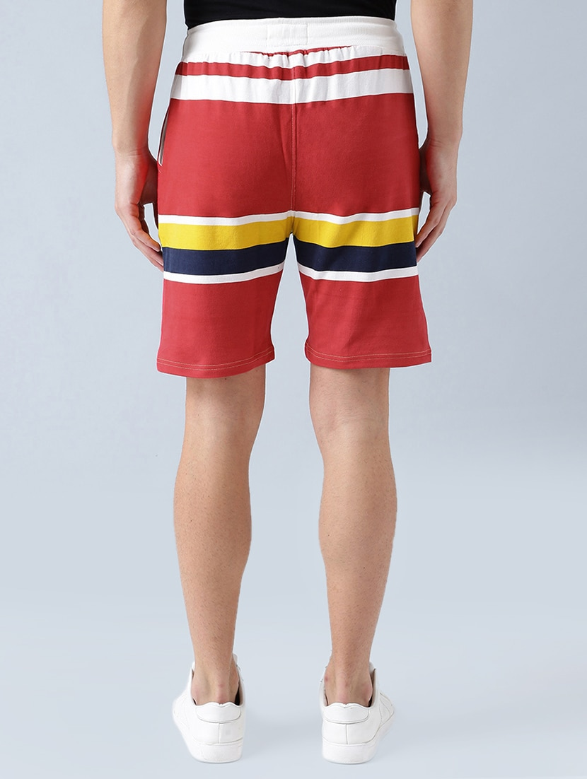 Red Cotton Shorts By Stormborn Online Ping For In India 14771741