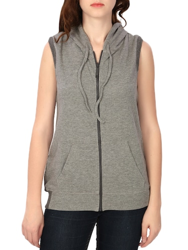 grey cotton others jacket - 14772636 - Standard Image - 1