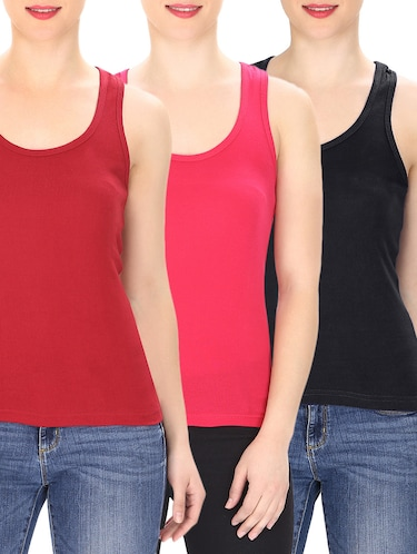 bd06f77b1af85 Buy t shirts for women sleeveless in India   Limeroad