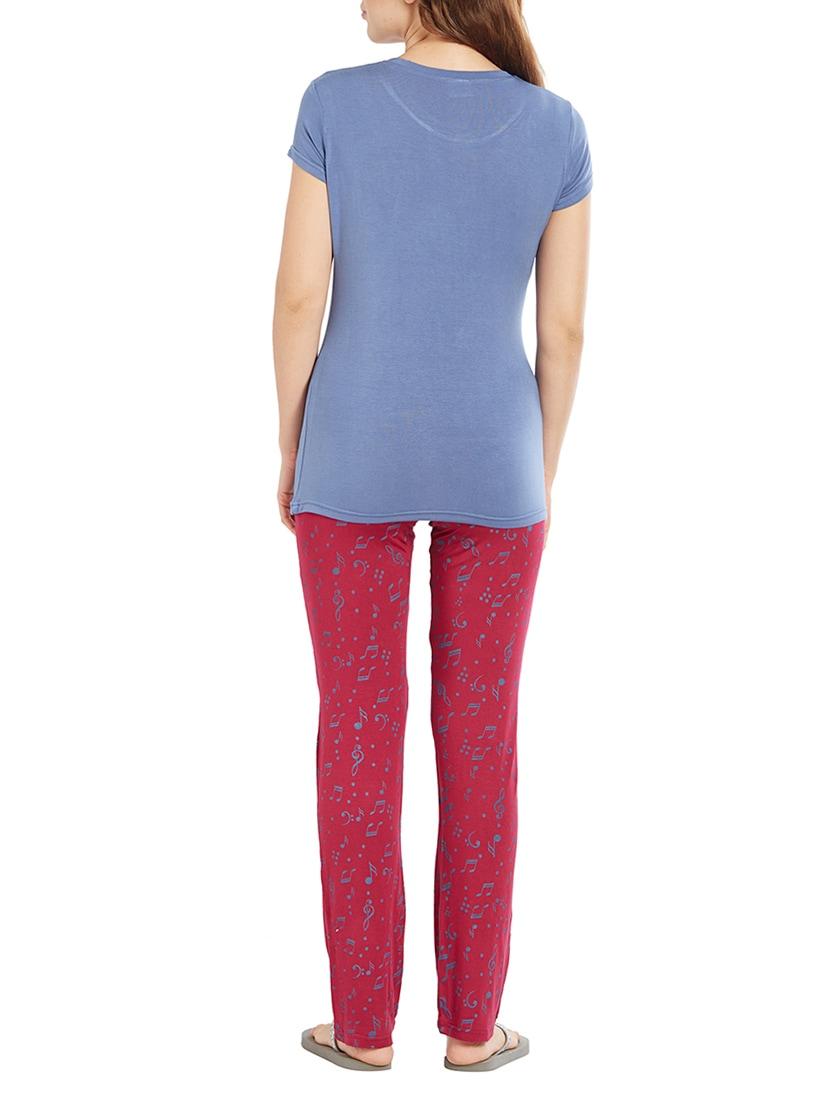 Buy Blue Nightwear Pajama Set by Velvet By Night - Online shopping for Nightwear  Sets in India  4c838f5e0