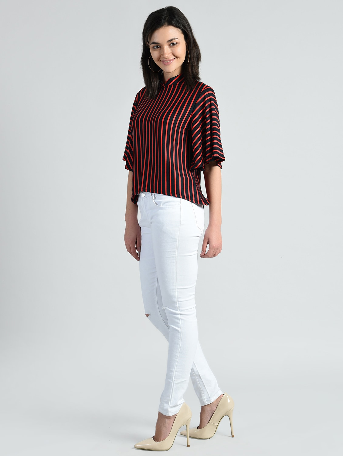 23141f65ee Striped Bell Sleeve Top