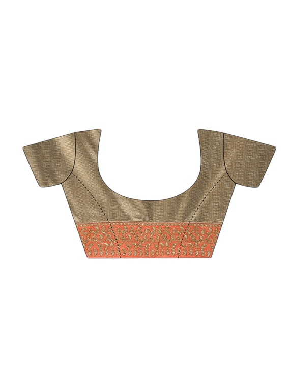 e3803d00409bd6 Buy Orange Net Embroidered Saree With Blouse for Women from Designer Bahu  for ₹1978 at 64% off | 2019 Limeroad.com