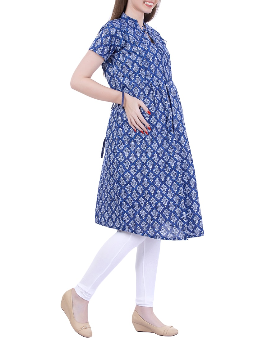 05a6e9ed6f2 Buy Blue Printed Maternity Wear Kurti for Women from Momtobe for ₹899 at  33% off