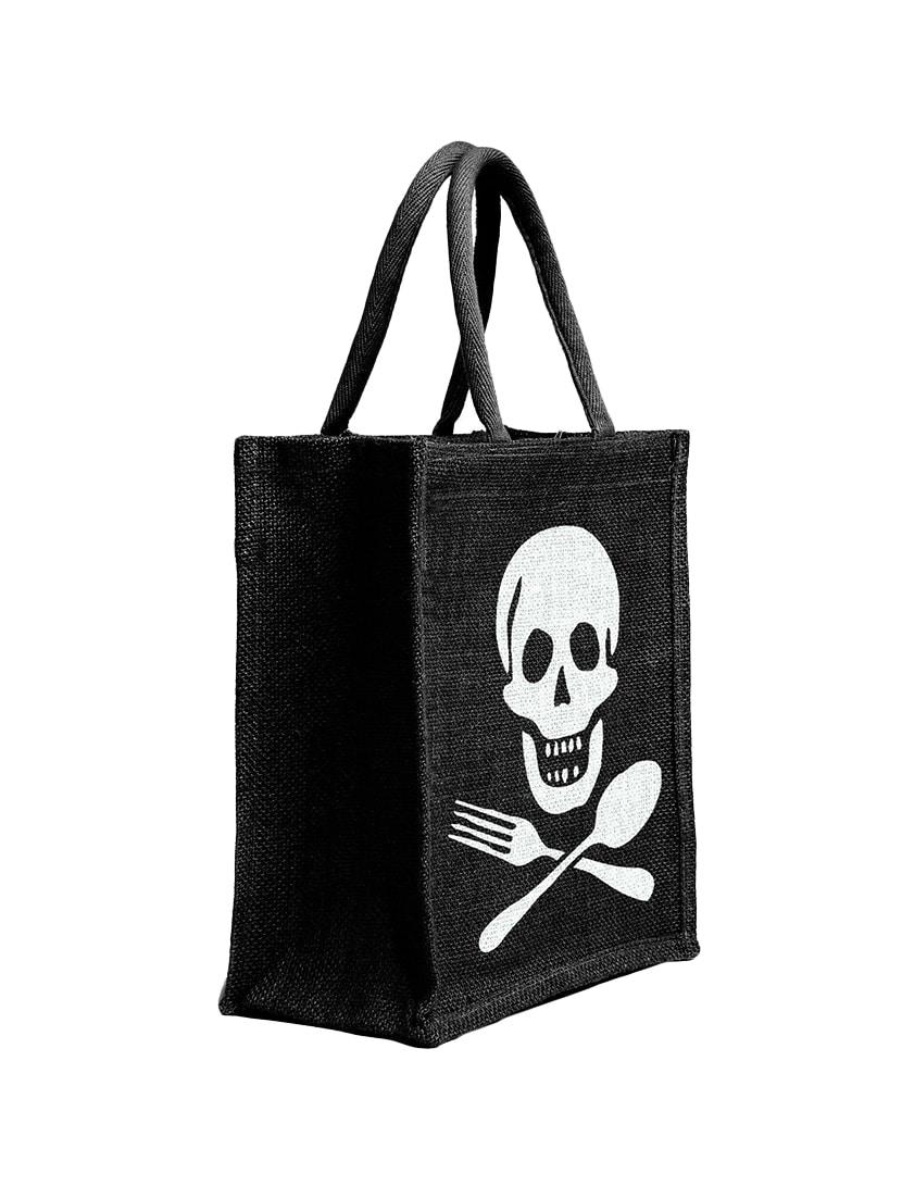 black jute regular shopping bag