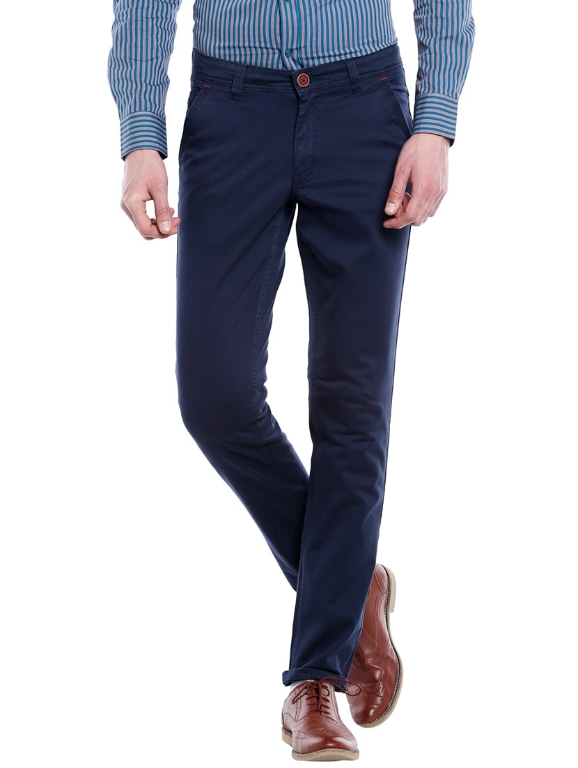 Buy Navy Blue Cotton Chinos Casual Trousers by Fast N Fashion - Online  shopping for Casual Trousers in India  3557cc503ad7