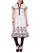 white cotton anarkali kurta -  online shopping for kurtas