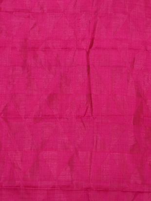 pink woven saree with blouse - 14795233 - Standard Image - 4