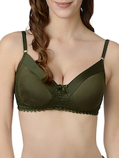 green solid bra -  online shopping for bra